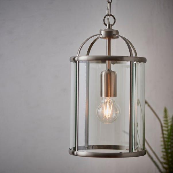 Endon Lambeth Glass Pendant Ceiling Fitting Silver