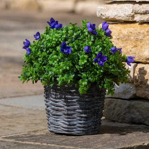 Artificial Wild Flower Basket Multi-Coloured
