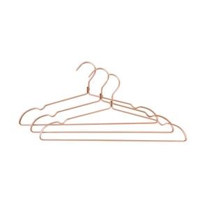 Set of 3 Metal Blush Pink Coat Hangers