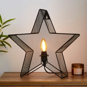 Saron Star Table And Easy Fit Wall Light