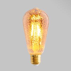 Status 4 Watt ST64 ES LED Crackle Bulb
