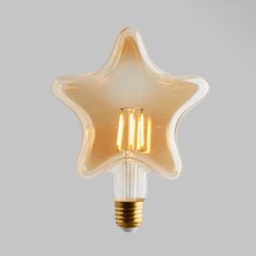 Status 4 Watt LED ES 28cm Star Shape Bulb