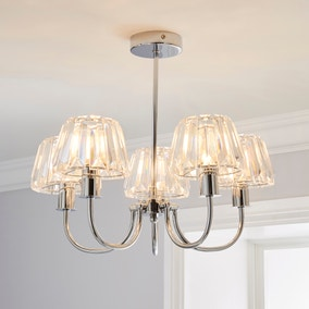 Paloma 5 Light Glass Ceiling Fitting
