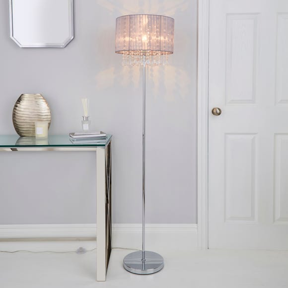 Riah Jewel Grey Floor Lamp Grey
