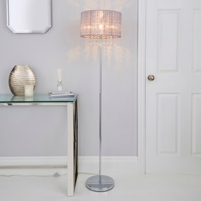Riah Jewel Grey Floor Lamp