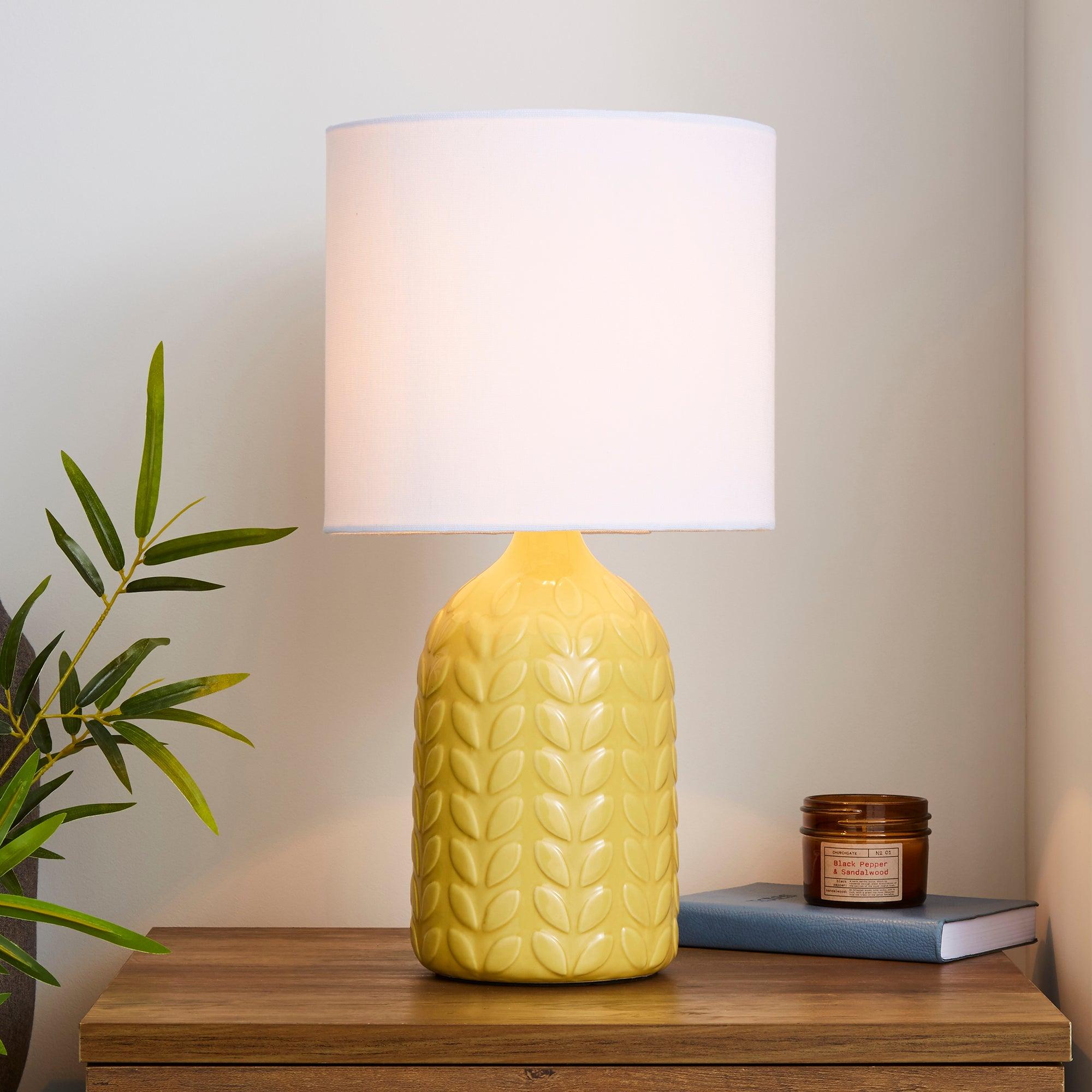 Magda Ceramic Ochre Table Lamp Ochre