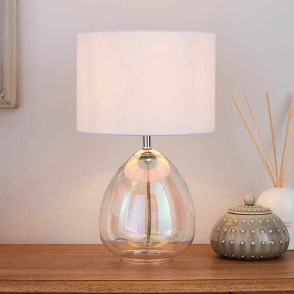 Bev Iridescent Glass Table Lamp Clear
