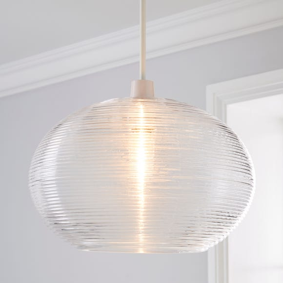 Sabrina Glass Easy Fit Pendant Clear