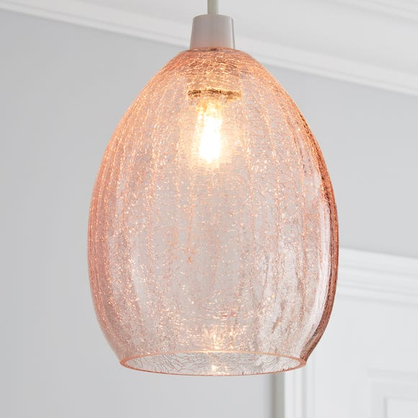 Akola Pink Glass Easy Fit Pendant Pink
