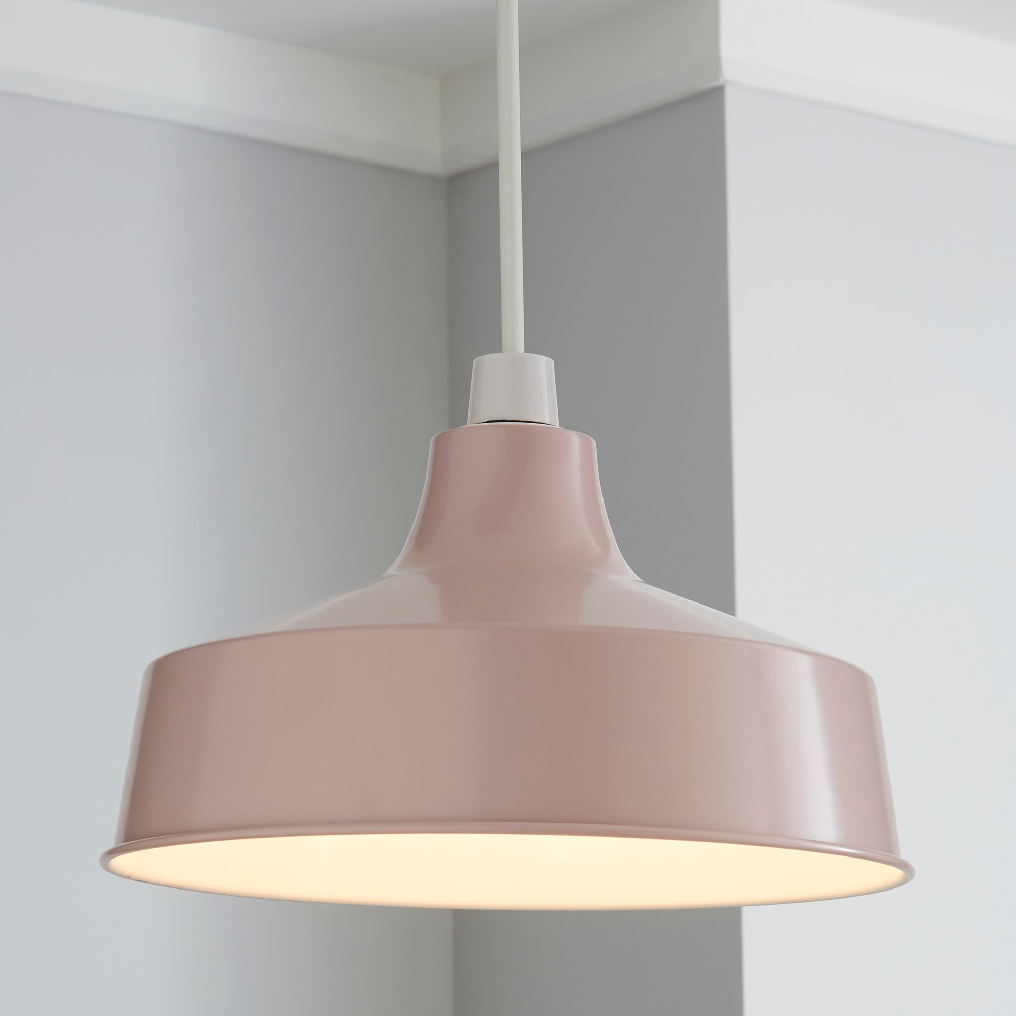 Click to view product details and reviews for Stern Blush Pink Easy Fit Pendant Pink.