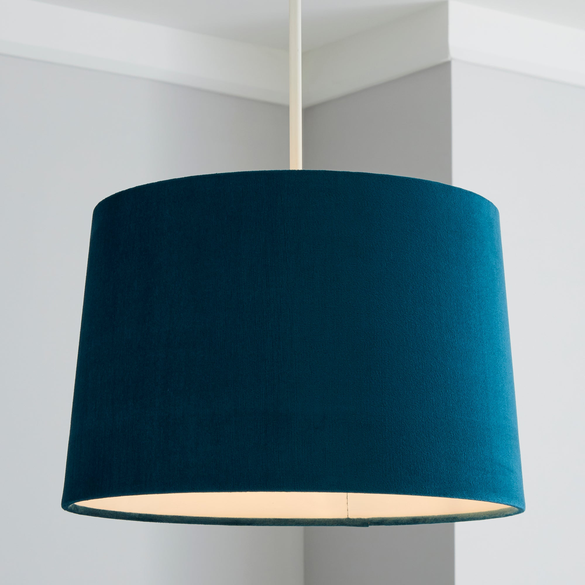 Click to view product details and reviews for Isla 30cm Tapered Teal Shade Teal Blue.