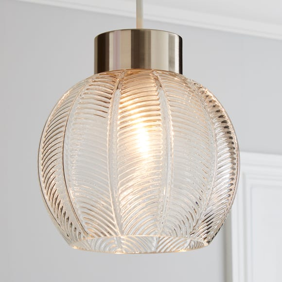 Colleen Clear Glass Easy Fit Pendant Clear