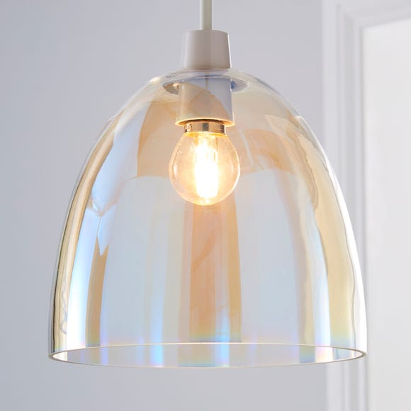 Latisha Irridescent Easy Fit Pendant Clear