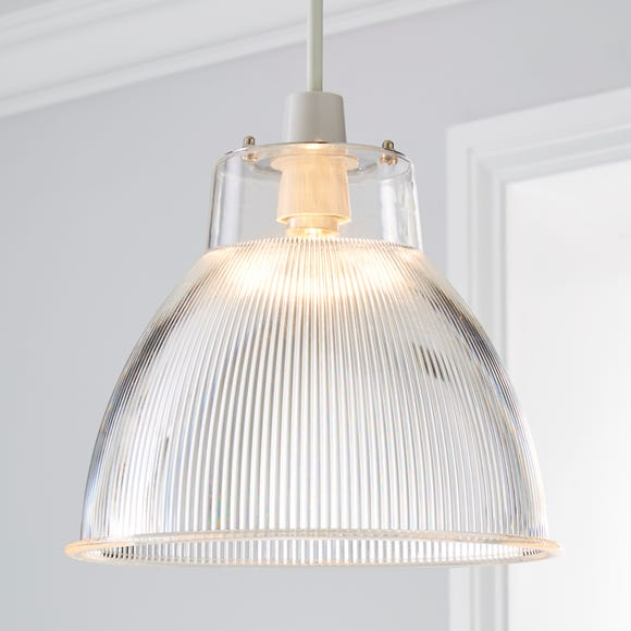 Alanya Clear Acrylic Easy Fit Pendant Clear