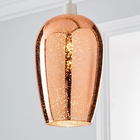 Ivy Glass Copper Easy Fit Pendant