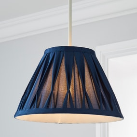 Valerie Pleat 25cm Candle Navy Shade
