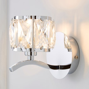 Kleio Glass Chrome Wall Light