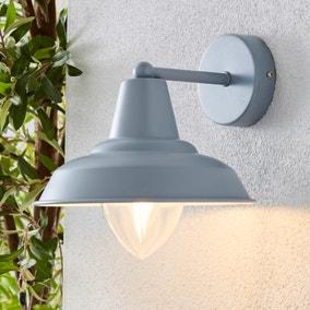 Galley Matt Grey Outdoor Wall Light