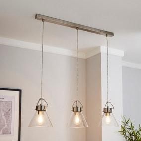 Delavin 3 Light Glass Diner Ceiling Fitting