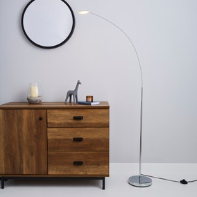 Circuit Integrated LED Chrome Floor Lamp