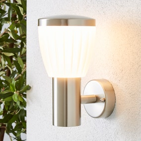 Rover LED Frosted Shade Steel Outdoor Wall Light