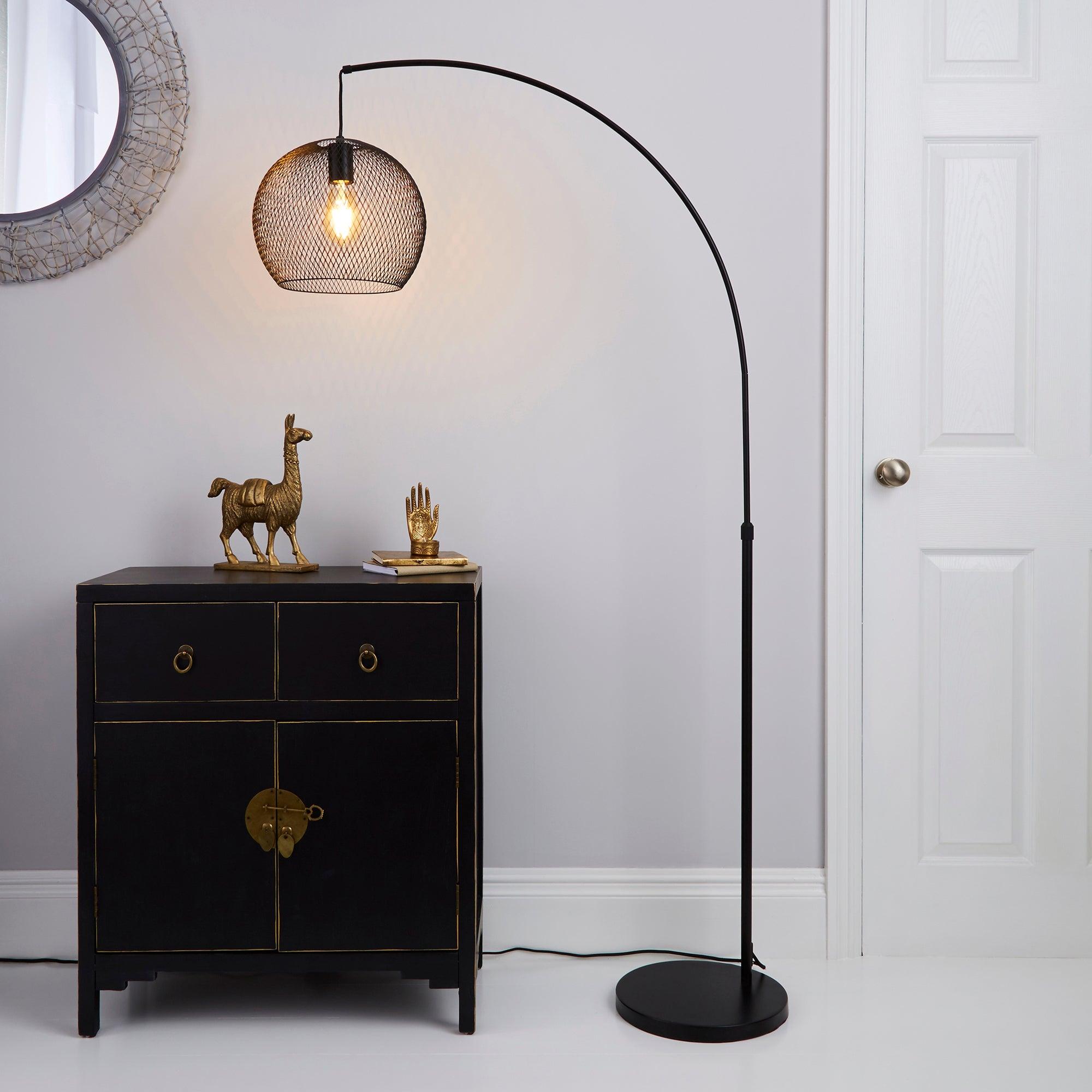 Harrison Arc Black Floor Lamp Black