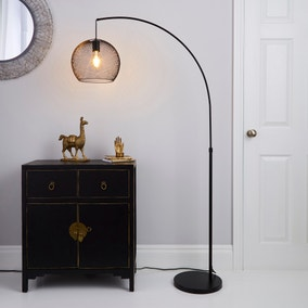 Harrison Arc Black Floor Lamp