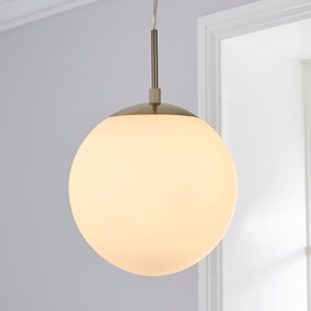 Hamptworth 1 Light Pendant Dome Frosted Glass Ceiling Fitting