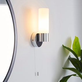 Porto Frosted Glass Bathroom Wall Light