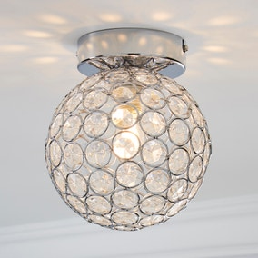 Sphere 1 Light Pendant Flush Ceiling Fitting