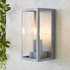 London Grey Industrial Outdoor Wall Light