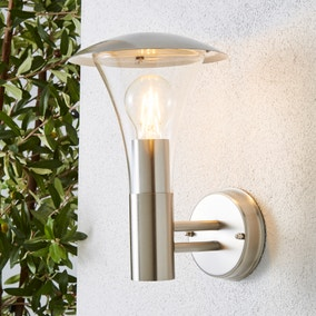 Grax Steel Outdoor Wall Light