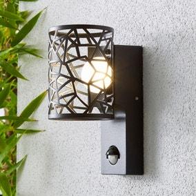Pandora Black Outdoor Wall Light