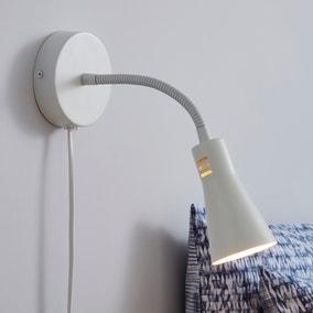 Nola Adjustable Easy Fit Plug In Wall Light Ivory