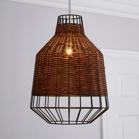 Ohio Dark Rattan Easy Fit Pendant
