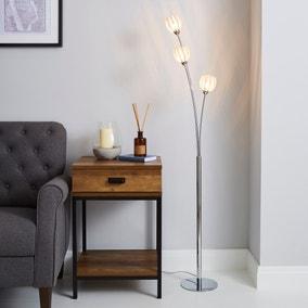 Rosa 3 Light Chrome Floor Lamp