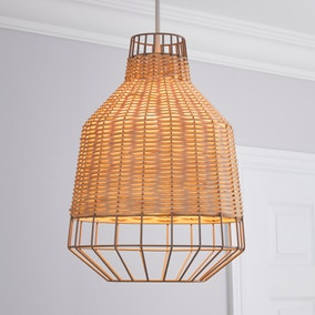 Ohio Light Rattan Easy Fit Pendant