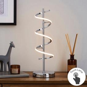 Apollo Integrated LED Chrome Table Lamp