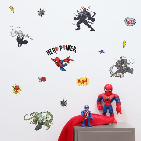 Disney Marvel Spider-Man Wall Stickers Blue