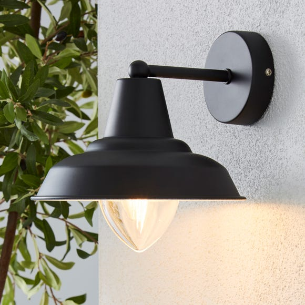 Galley Black Outdoor Wall Light Black