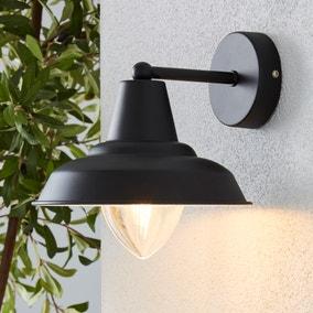 Galley Black Outdoor Wall Light