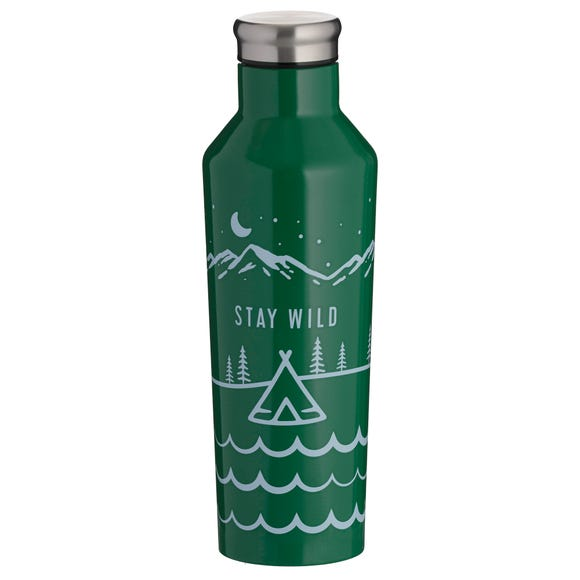 Typhoon Stay Wild Double Wall 500ml Insulated Water Bottle Green