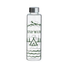 Typhoon 600ml Stay Wild Glass Water Bottle