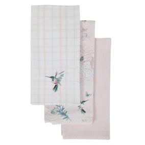 Pack of 3 Heavenly Hummingbird Tea Towels