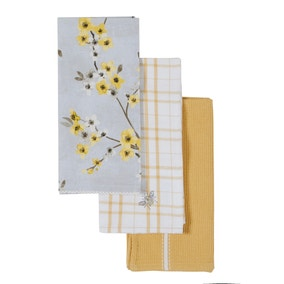 Pack of 3 Alisha Tea Towels