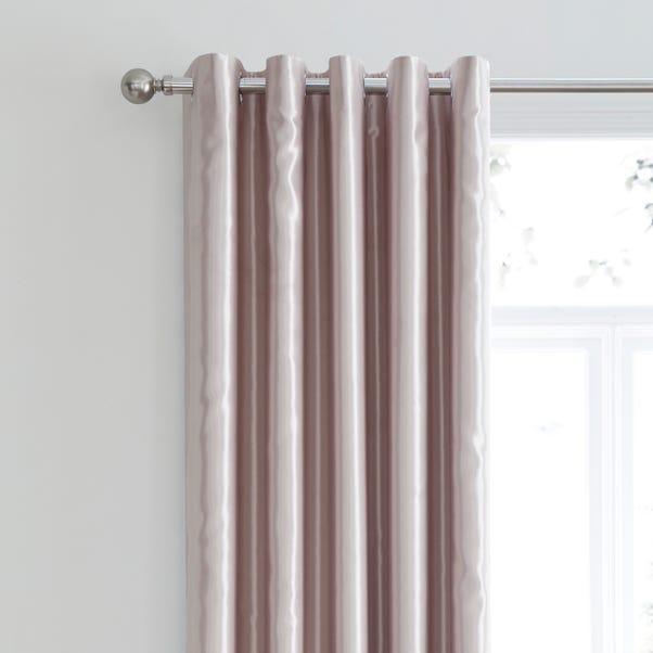 Nancy Pink Satin Blackout Eyelet Curtains Rose Gold undefined
