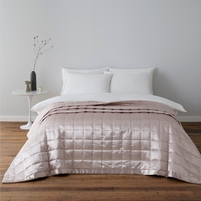 Nancy Pink Satin Quilted Bedspread