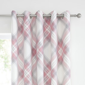 Amelle Pink Blackout Eyelet Curtains
