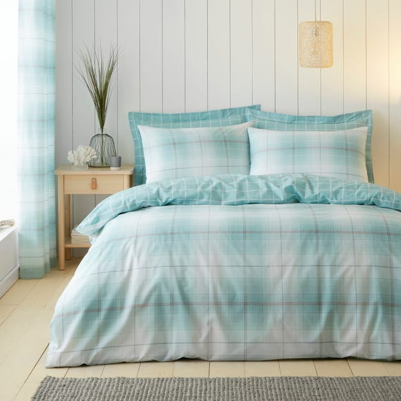 Albie Blue Reversible Duvet Cover and Pillowcase Set  undefined