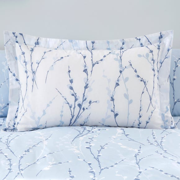 Belle Blue Oxford Pillowcase